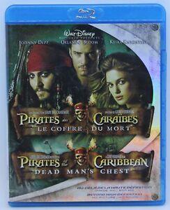 Pirates-of-the-Caribbean-Dead-man-039-s-chest-Disney-movie-2x-Blu-ray