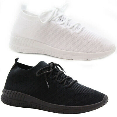 UK Mens Womens Running Sports Lace Up Pumps Trainers Shoes Basketball Size 3-10