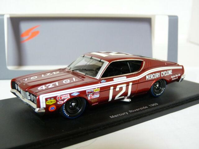 Spark S3602 1/43 1969 Mercury Cyclone NASCAR Riverside Gurney Resin Model Car