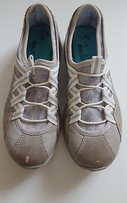 Damas Rieker Beige/Gris Zapatillas Size UK 5 EU 38