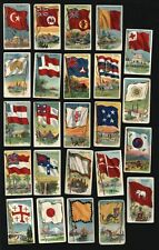 World Flags Asia Australia Pacific c.1909-11 Tobacco card lot of 24 miniatures