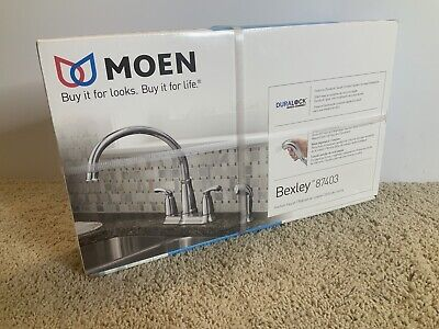 87403 Bexley High Arc Kitchen Faucet With Side Spray 2 Handle Chrome 26508874035 Ebay