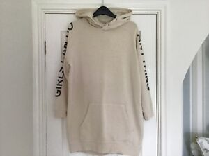Girls Cream Hoodie Dress by Zadig & Voltaire, Age 12