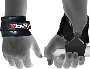 RDX-Weight-Lifting-Reverse-Grips-Training-Gym-Straps-Gloves-Wrist-Support-Bar-PR