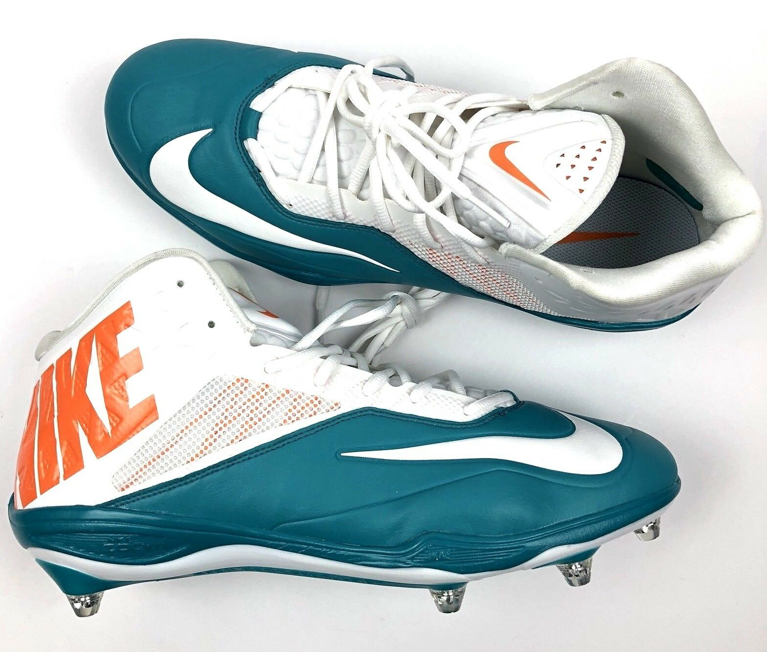 Nike Zoom Mens Football Cleats 3/4 Dolphins Colors Removable Spikes size 14 Seasonal price cuts, discount benefits