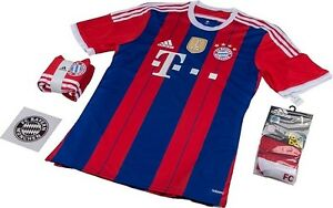brand new d7b75 83513 Details about ADIDAS BAYERN MUNICH AUTHENTIC ADIZERO HOME KIT 2014/15  LIMITED EDITION.