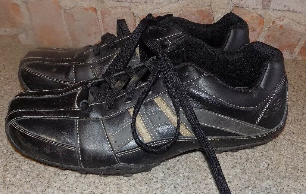 SKECHERS SPORTS  MENS  BLACK   MENS  SIZE 11 1/2 4928fb
