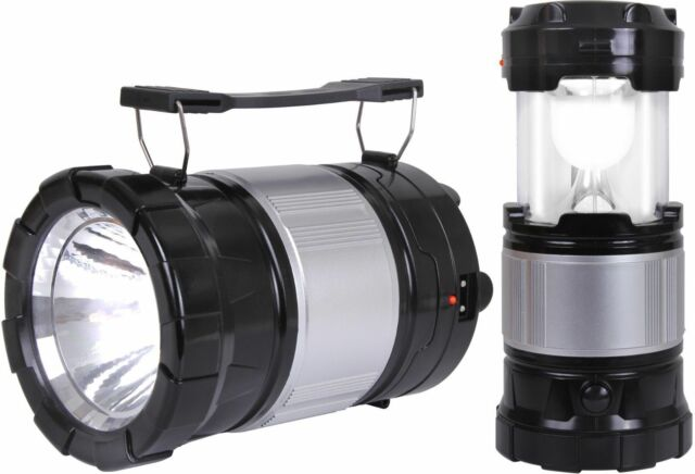 Solar Lantern Torch LED Light with Rechargeable Battery & USB Charger Emergency