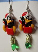 NORA WINN ~DAFFY DUCK ~ Earrings 925 Christmas LOONEY TUNES MOVIE CHARACTERS