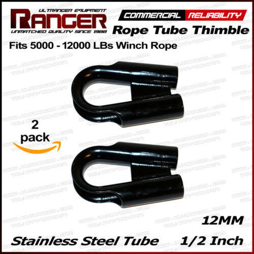 """Ranger 12MM Stainless Steel Rope Tube with GUSSET for 3//8/"""" or 1//2/"""" Wire or Rope"""