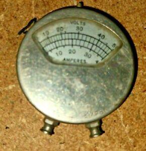 Vintage Volts+Amp Meter Steampunk