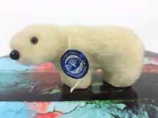 """Eski-Seal Polar Bear Newfoundland Toy Plush Canada Mini 5"""" Wool Vintage Orig Tag"""