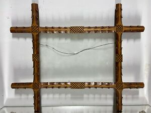 VTG-Aesthetic-Art-039-s-Craft-039-s-Folk-Art-Wood-Picture-Frame-Fits-8-034-x12-034