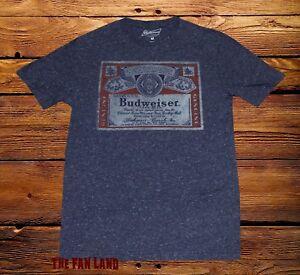 New Budweiser Anheuser Busch Brewing Beer Mens Vintage T-Shirt