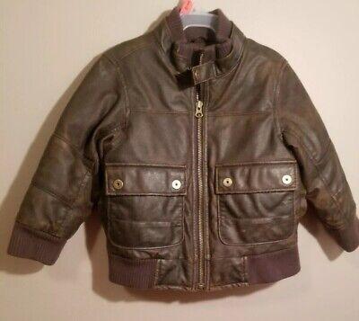 baby Gap NWT Boy Plaid Wool Blend Bomber Moto Jacket Coat