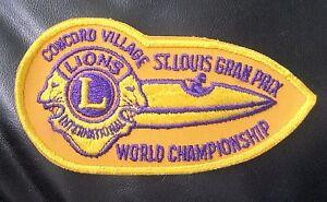 LIONS-CLUB-ST-LOUIS-GRAN-PRIX-CONCORD-VILLAGE-SEW-ON-PATCH-5-1-2-034-x-3-034