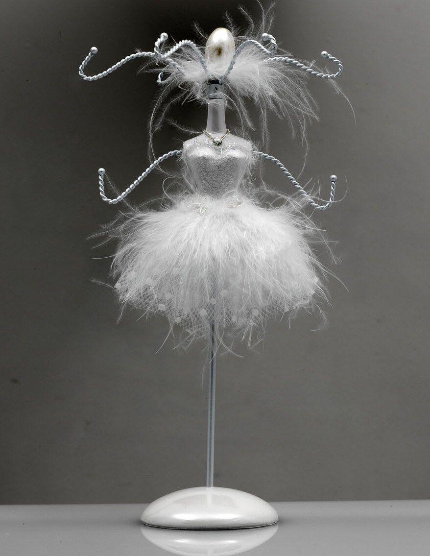 White Modern Ballet Dance Jewellery Hanger Present By Katz Dancewear Gifts JH-04