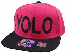 NEW VINTAGE YOLO SNAPBACK CAP YOU ONLY LIVE ONCE HAT HOT PINK/BLACK