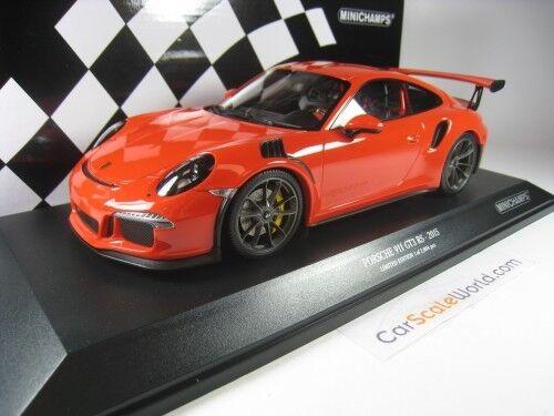 PORSCHE 911 911 911 GT3 RS  991  2015 1/18 MINICHAMPS  LAVA arancia  5128b8