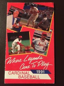 Details about St Louis Cardinals 1991 MLB pocket schedule - Legends