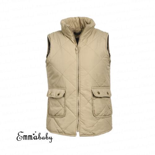US Plus Size Women Puffer Padded Vest Jacket Gilet Sleeveless coat Snowsuit