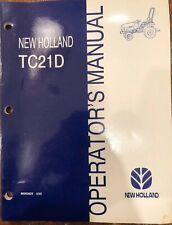 New Holland Tc21d Operators Manual Genuine Oem 86563622