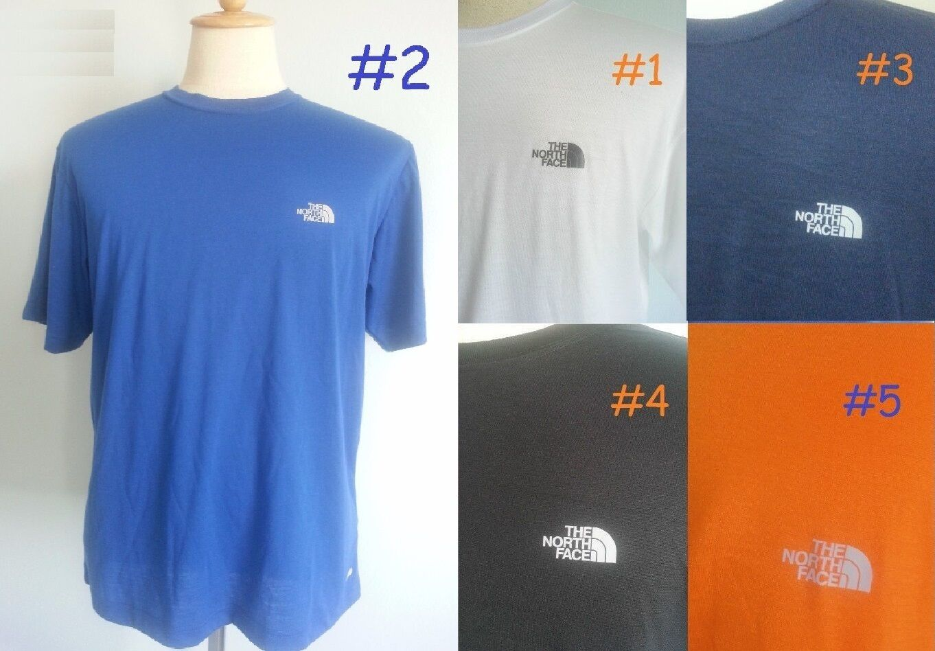 NEW The North Face Vaporwick Ruck Crew Neck Athletic T-Shirt Top Men M L XL XXL
