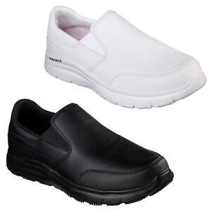 Detalles de Skechers Trabajo Flex Advantage Sr Bronwood Zapatillas Zapatos Hombre Blanco