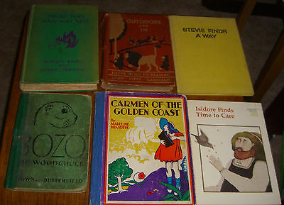 6 Childrens Books Carmen of The Golden Coast, Bozo, Stevie, Isidore Old Vintage