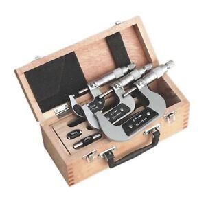 Sealey-AK9651M-Micrometre-Ensemble-3pc-Metrique