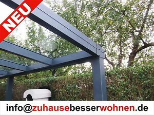 terrassen berdachung alu terrassendach vorbereitet f r vsg glas ohne glas 4x2 5 ebay. Black Bedroom Furniture Sets. Home Design Ideas