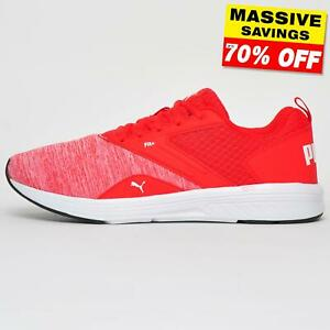 Puma NRGY Comet Fit + Men's Fitness Gym Chaussures De Course Baskets Rouge