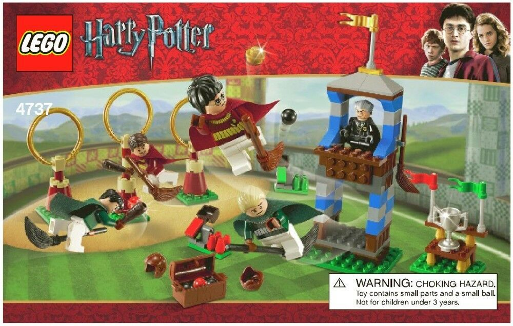 LEGO HARRY POTTER QUIDDITCH MATCH 4737 100% COMPLETE 5 MINIFIGURES FREE STANDS