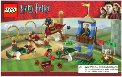 1 of 1 - LEGO HARRY POTTER QUIDDITCH MATCH 4737 100% COMPLETE 5 MINIFIGURES FREE STANDS*