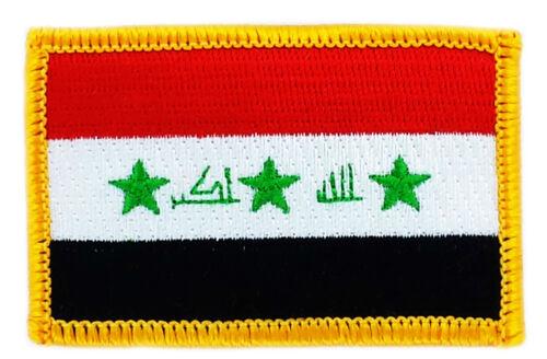 Drapeau Patch correctifs Iraq Irak Iron on Country brodé monde Drapeau