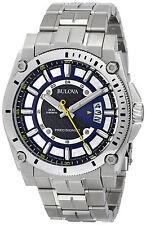 Bulova Men's 96B131 300M Precisionist Black/Blue Dial Stainless Steel Date Watch