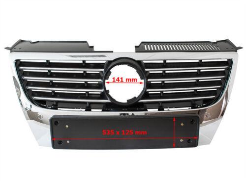 Rejilla Parrilla Delantera Cromada Highline para VW Passat B6 3C 3B6 05-10