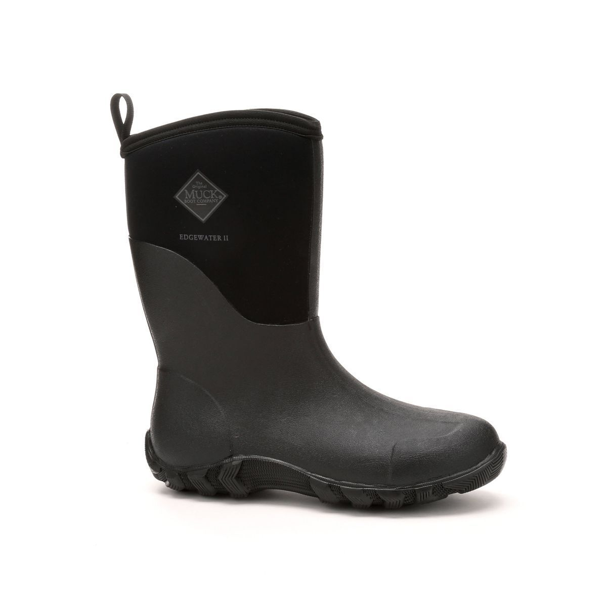 Muck Boots Company Adult Men's/Women's EDGEWATER II MID, BLACK, Neoprene Rubber