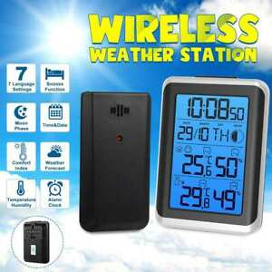LCD-Wireless-Weather-Station-Indoor-Outdoor-Forecast-Sensor-Clock-Thermometer