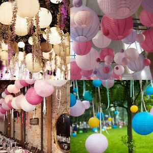 Hot Multicolor Round Chinese Japanese Paper Lanterns Wedding Party