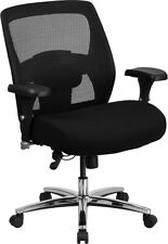 Big Amp Tall 500 Lbs Capacity Black Mesh Executive Office Chair Extra Wide Seat