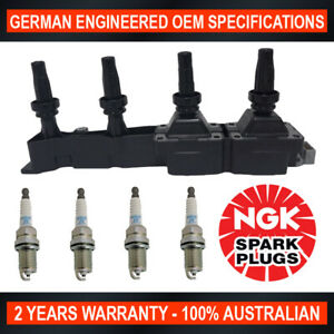 4x-Genuine-NGK-Spark-Plugs-amp-1x-Ignition-Coils-for-Citroen-C3-1-4L
