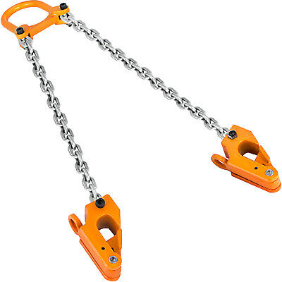 Black 2000lbs Capacity Chain Drum Lifter Durable Strongway Vertical Drum Lifter Chain