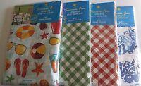 Umbrella Vinyl Tablecloths W/ Zipper Closure Assorted Designs 70 Round