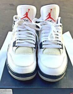 5809de08dcbdf Nike Air Jordan Retro IV 4 White Cement Basketball Men's Shoes ...