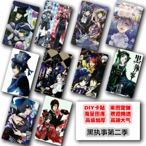 Hot Japan Anime Black Butler//Kuroshitsuji 10 pc//set Card Paster IC Card Sticker