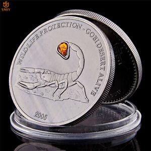 Mongolian-Wild-Gobi-Scorpion-1-OZ-500-Togrog-Antique-Silver-Collectible-Coin