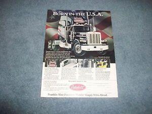 1994-The-Franklin-Mint-Peterbilt-Model-379-1-32nd-Die-Cast-Truck-Vintage-Ad
