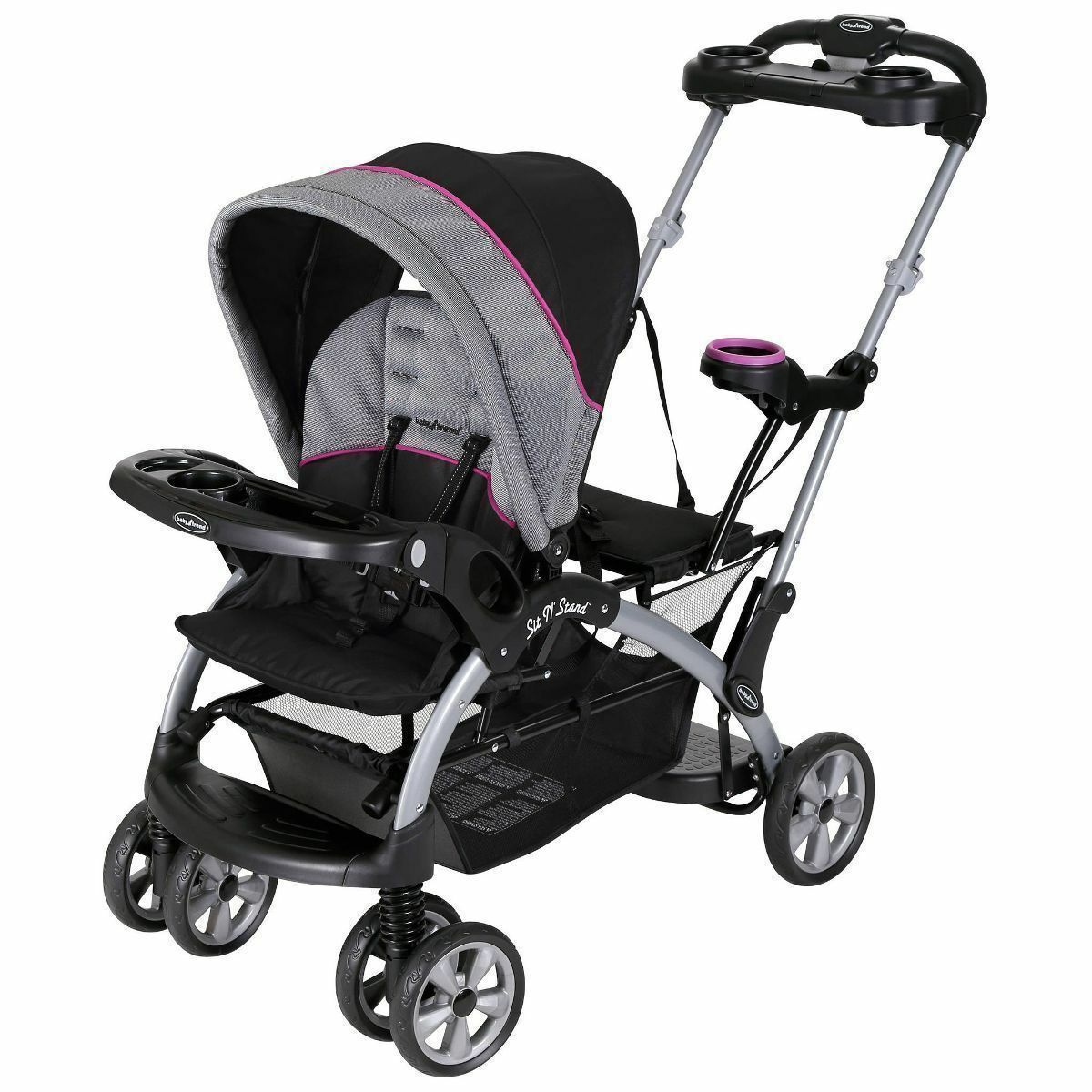 Details About Baby Trend Sit And Stand Stroller Infant Toddler Double Travel System Storage