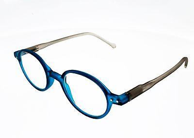 Brille Von Lesen Lupe Rund Leo 189 C Türkis Grau Mit Bügel Flex Halb Ebay